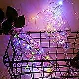 Luces LED de cuento de hadas impermeables para fiestas familiares luces LED luces decorativas de cadena A2 3m30 leds batería