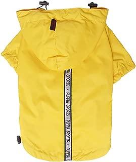 Puppia Authentic Base Jumper Raincoat, 4X-Large, Yellow