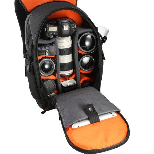 Vanguard The Heralder 49 - Mochila para cámara reflex, canon, nikon, sony, olympus y otras, color negro