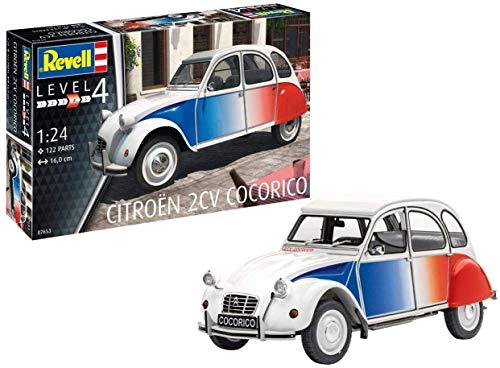 Revell 07653 Maquette de Voiture à Construire Citroën 2 CV Cocorico - échelle 1/24 - Niveau 4/5, 07653