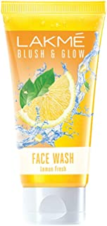 Lakme Blush & Glow Facewash, Lemon Fresh, 100g
