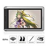 HUION Kamvas GT-156HD V2 Tablette Graphique avec écran 8192 Niveaux Moniteur de Dessin Graphique avec vitre antireflet, 14...