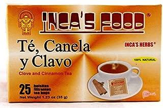 Inca's Food Black Tea with Cinnamon & Cloves (Te, Canela y Clavo) 25 tea bags, 1.23 Oz (35 g)- Product of Peru