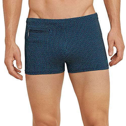 Schiesser Herren Aqua Bade-Retro Shorts, Blau (Blaugrün 817), XXX-Large (Herstellergröße: 009)