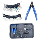 42 Pcs Terminal Ejector kit with Wire Cutter, Maerd Electrical Pin Removal Tool Kit for Car, Terminal Injector Kit and Pin Extractor Electrical Wiring Crimp Tool Set for Most Connector Terminal