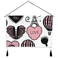 MISCERY タペストリー、シームレスパターンベクトル熱気球、壁掛けタペストリー壁画 壁飾り 家 リビングルーム ベッドルーム 部屋 おしゃれ飾り モダンなアート