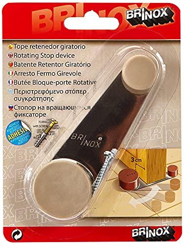 Brinox B78270Q Tope retenedor giratorio, Beige, 3.2x10.2x2.2 cm