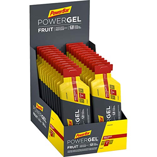 PowerBar PowerGel Fruit Red Fruit 24x41g - High Carb Energie Gel + C2MAX Magnesium und Natrium