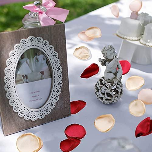 HAQTXI 400 PCS Artificial Rose Petals, Simulation Scatter Petals Confetti Artificial Silk Flowers for Wedding Flower Girl Basket Table Center Home Shower Decor (Color : Dark Purple) Silk Flower Arrangements