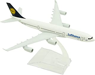 MINLIN 16cm Alloy Metal Germany Air Lufthansa A340 Airlines Airplane Model Lufthansa Airbus 340 Airways Plane Model Aircraft Kids Gifts