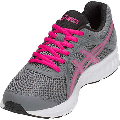 ASICS Women's Jolt 2 Running Shoes, 8, Steel Grey/Pink Rave