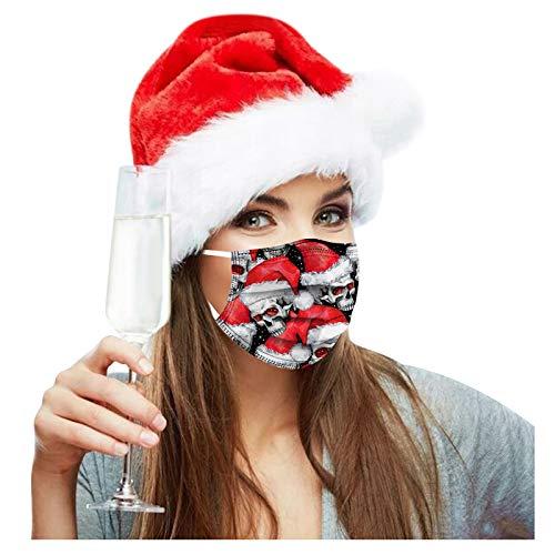 50 Stück Einmal-Maske,Staubs-chutz, Erwachsene, Bandana Face-Mouth Cover Mund und Nasenschutz Halstuch Bandana für Herren Damen 3-Lagig Sport Bandana