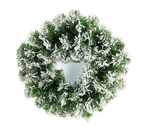 Vetrineinrete Dietroporta Natalizio Ghirlanda innevata da 40 cm con 65 Punte Decorazioni Natalizie addobbi di Natale per la casa 47799 N5