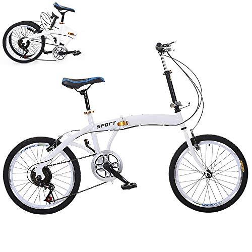 MOMAMO Lightweight Faltrad, 26 Zoll Klapprad mit Höhenverstellbarer,Folding City Bike mit Vorne Hinten Kotflügel,First-Class Aluminium Klappfahrrad für Herren Damen