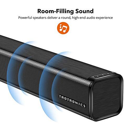 Soundbar, TaoTronics Three Equalizer Mode Audio Speaker for TV - Best Soundbar Under 200