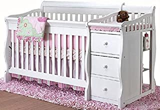 Tuscany 4-in-1 Convertible Crib and Changer Combo Finish: White by Sorelle