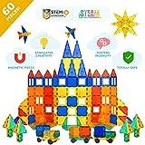 Tytan Magnetic Tiles & Building Blocks - STEM Certified Toys, Magnets for Kids, Boys/Girls Fun, Creative, Educational - (60)