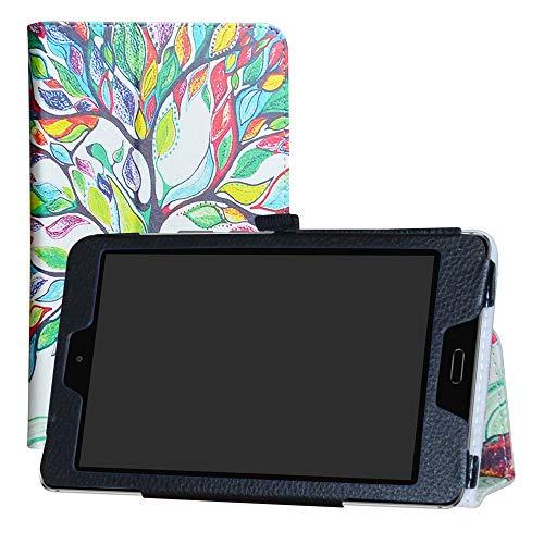 LFDZ Huawei MediaPad M3 Lite 8.0 Hülle, Schutzhülle mit Hochwertiges PU Leder Tasche Hülle für Huawei MediaPad M3 Lite 8.0 Tablet,Love Tree