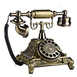 ヨーロッパのレトロなロータリーはアンティーク電話 ホテルオフィスインテリアのためにファッション樹脂クリエイティブ固定電話デスクトップ電話機のダイヤル (色 : Electronic ringtones)