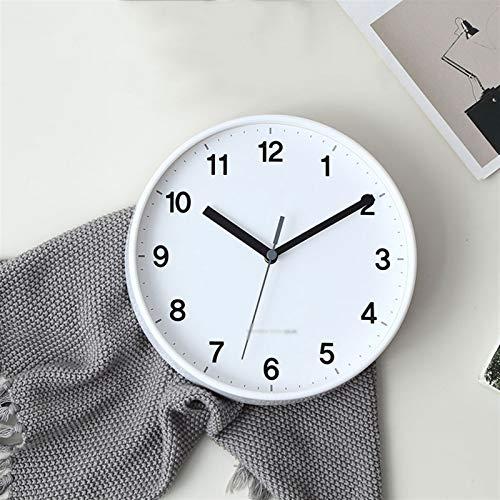 zhangshop Relojes de Escritorio del Reloj de cabecera Reloj de Pared de Barrido sin tictac Diámetro de 20 cm (números árabes) Reloj para Oficina Dormitorio (Color : D)