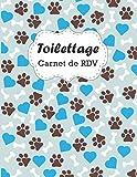 Carnet de RDV Toilettage: colonne de rendez-vous horaire pour les toiletteurs pour chiens | 21.59 x 27.94 cm, 120 Pages