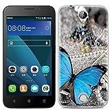 Yrlehoo Für Acer Liquid Z330, Premium softe Silikon Schutzhülle für Acer Liquid Z330 Tasche Hülle Cover Hülle Etui Schutz Protect, Schmetterling