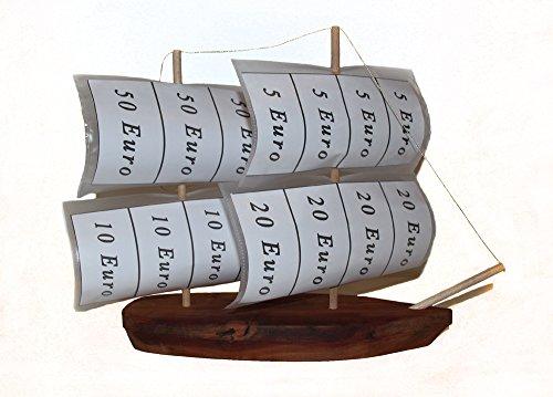 Geldgeschenke Verpackung zur Hochzeit Geburtstag , originelle Hochzeitsgeschenk-e Geburtstagsgeschenk-e, kreativ Geld für Brautpaar ver-schenken , Segel-schiff Schiffs-reise Kreuzfahrt aus Holz