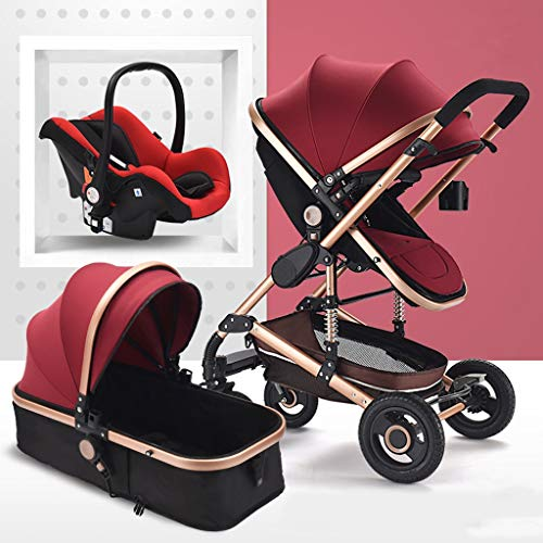 Why Choose TXTC 3 in 1 Stroller Carriage Foldable Luxury Baby Stroller Anti-Shock Springs High View ...