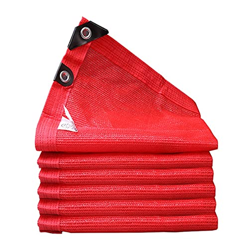 Telas para toldos WXYZ Red de sombreado Rojo, tasa de sombreado al 90%, a Prueba de Viento, a Prueba de Polvo y a Prueba de Rayos UV, Vela de Sombra Grande (Size : 4x4m)