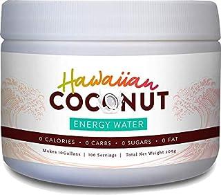 Hawaiian Coconut Water Energy Drink Powder, 100 servings, Clean Instant Coconut Drink - Just add water, Non GMO Vegan Glut...