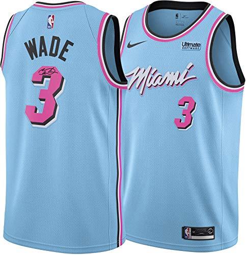 Dwyane Wade Miami Heat Autographed Blue Nike Vice Wave Swingman Jersey - Autographed NBA Jerseys