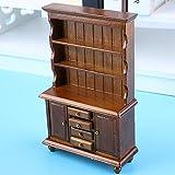 1:12 bibliothèque délicate bibliothèque de Maison de poupée, Meubles Miniatures, en Bois pour bébé Maison de poupée