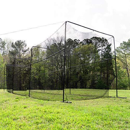 ANYTHING SPORTS 40 Foot Collapsable Batting Cage, Perfect Baseball Batting Cage, Softball Batting Cage, Complete Package with Frame and Netting. Freestanding Portable Batting Cage for Backyard