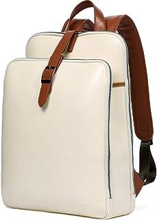 CLUCI Mochila para mujer de cuero de 15,6 pulgadas, portátil, viajes, negocios, vintage, grandes bolsas de hombro