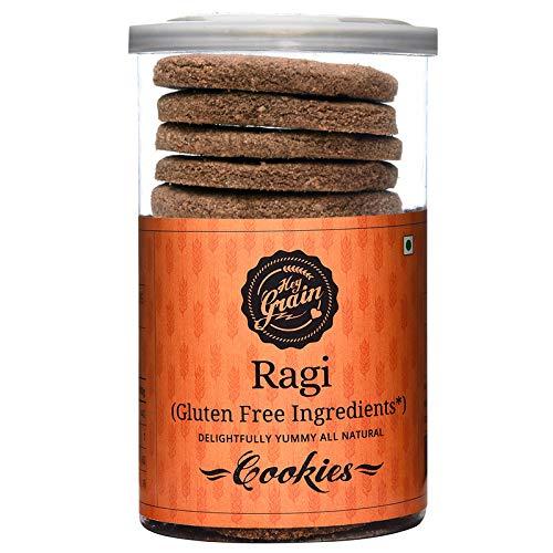 Hey Grain Ragi Gulten Free Cookies (Organic Ragi Flour, Demerara Sugar, Butter, Milk, Salt)