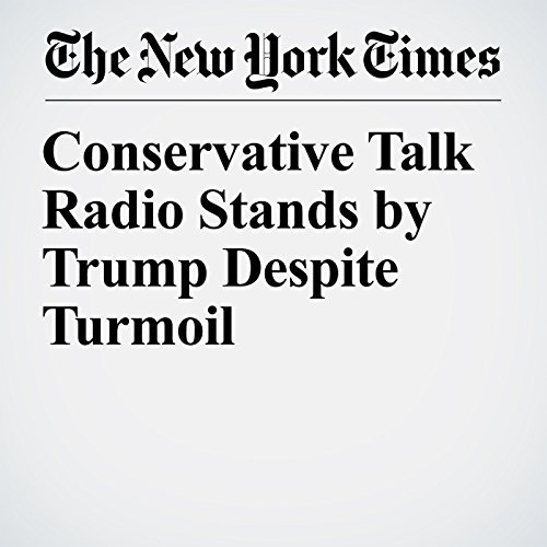 Conservative Talk Radio Stands by Trump Despite Turmoil copertina
