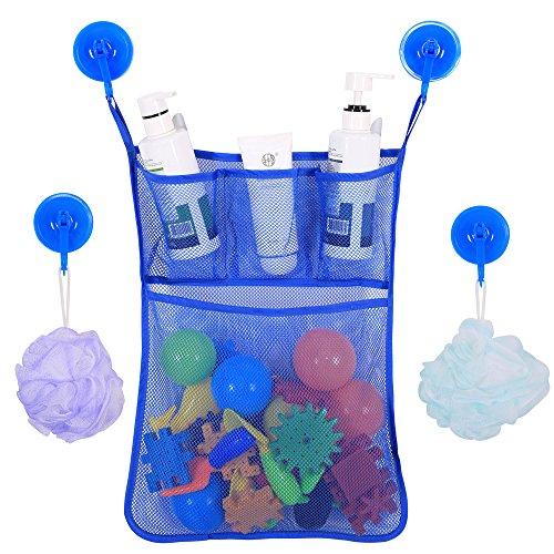 BrilliantDay El mejor bolso para el organizador del cuarto de baño, almacenaje superior del juguete de la bañera con 2 tazas de succión resistentes #3