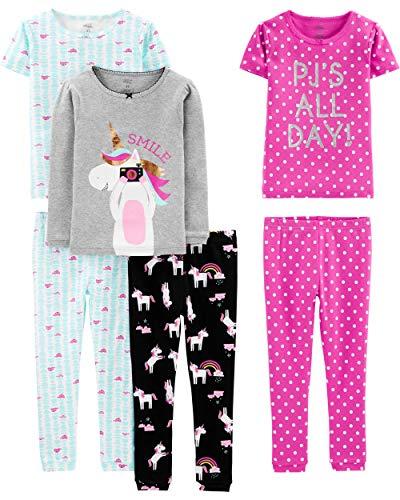 Simple Joys by Carter's Juego de Pijama de algodón de 6
