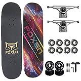 AKT Skateboard 31 x 8 Zoll PRO Deck, Double Kick 7 Schicht...