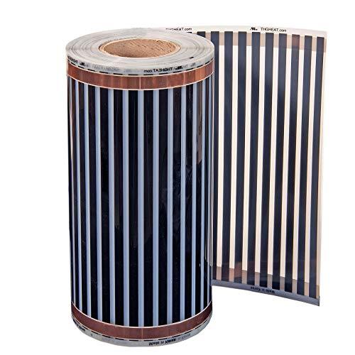 24 V DC verwarmingsfolie, 20 cm breed, 1-4 m 4,0m