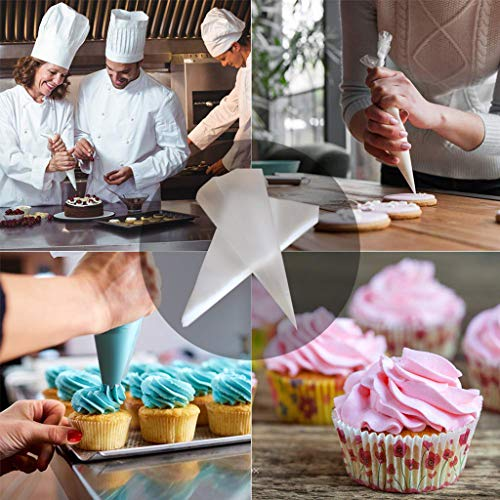 Cake Mould, Tipless Piping Bags Anti-Burst Icing Disposable Decorating Bags Tip