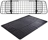 Xtremeauto Universal Heavy Duty Waterproof Rubber Car Boot Liner Mat & Mesh Grill Dog Barrier Guard