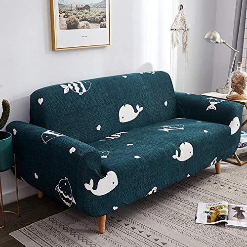 NLADTWLSD Funda de sofá de Alta Elasticidad, impresión Fundas para Sofa Antideslizante Cubierta para Sofa Protector para Sofás Lavable para el Salón (1 Asiento,Verde Oscuro)