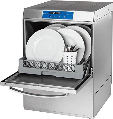 Vaatwasmachine Digitaal Power incl. wasmiddeldoseer-, doseer-, wasmiddel- en afvoerpomp vaatwasmachine 565 x 636 x 836 mm 400 V 6,5 kW van roestvrij staal uit eigen productie