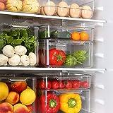 Bulawlly (Juego de 5) Nevera Organizador Organizador despensa Hecho de plástico sin BPA, Organizador de la Cocina de Conservas Especias Y Más