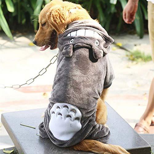 QWEZXC Ropa para Perros Tallas Grandes Ropa para Perros Invierno cálido Fleece Chaqueta para Mascotas Chaqueta Grande Ropa para Perros Disfraces Sudadera con Capucha para Golden Retriever Pitb