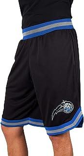 Ultra Game NBA Orlando Magic Men's Mesh Basketball Shorts Woven Active Basic, XX-Large, Black