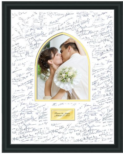 Amazon Com Personalized Wedding Picture Frame 16x20 Persian Arch 8w X 10h Portrait Photo Anniversary Engraved Photo Framing White Matted Retirement Engagement Signature Guest Book Wishes Gift Single Frames