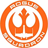 PanWenJuan - Star Wars Rogue Squadron Emblem Logo Decal Sticker Car Truck Window Die Cut Vinyl(30x30 cm) (Orange)