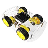 The perseids DIY Smart Motor Robot Kit Car Chassis, 4WD Chasis Robot Coche Kit con Encoder de Velocidad...